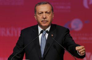 Turkey's President Tayyip Erdogan makes a speech during a graduation ceremony in Ankara